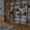 壁面に本棚や、北欧風の置物や、ちいさな置物を飾りれるおしゃれな収納壁面を作ろう ミセル収納を楽しもう。